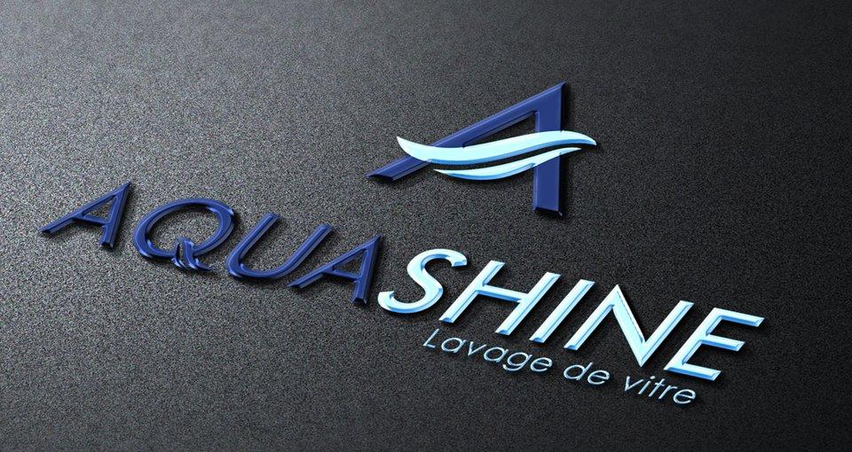 Aqua Shine 3D Logo